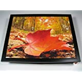 Red Leaf Leaves Autumn Fall Cushion Lap Tray