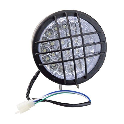 GOOFIT Motorrad-LED-Scheinwerfer-vorderes Licht-Umdrehungs-Signal-Anzeigen für 50ccm 110cc 150cc Scooter-Moped-Viererkabel ATV