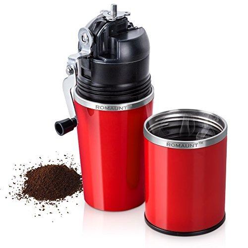 ROMAUNT Kaffeemühle und Maker alle in einem tragbaren Reiseset, manuelle Bohne Tasse Kaffee Brew...