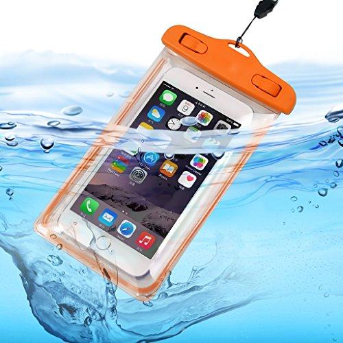 ONX3 (Orange) XOLO A1010 Universal-Transparent Bewegliche Zelle Smartphone, Pass, Geld Wasser Wasserdichte Schutztasche Touch-Responsive -