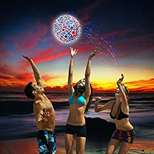 Swimways - 6045218 - Light Up Beach Ball, beleuchteter Wasserball mit Stern...