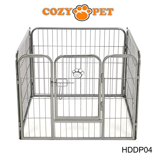 Cozy Pet Heavy Duty Play Pen for Dogs Puppies Rabbits Guinea Pigs, Puppy Playpen Whelping Pen Dog Cage Puppy Crate Run 9 HDDP04 (We do not ship to the Channel Islands or The Isles of Scilly.)