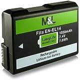 Batterie EN-EL14 pour Nikon D3100 | D3200 | D5100 | D5200 | P7000 | P7100 | P7700