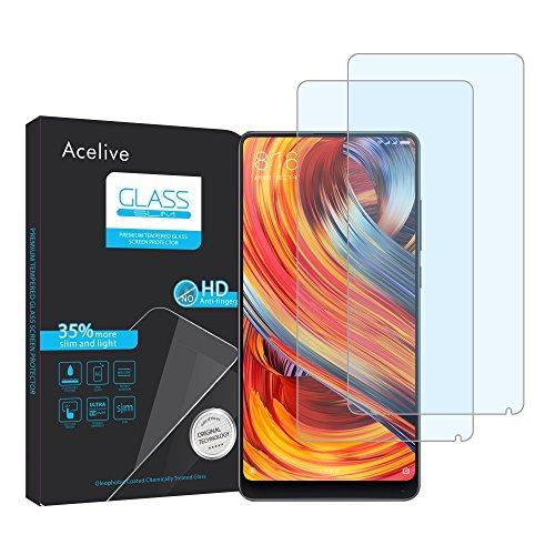 Acelive Vetro Temperato Xiaomi Mi Mix 2 2S, 2-Pezzi Pellicola Protettiva Resistente in Vetro Temperato per Xiaomi Mi Mix 2 2S