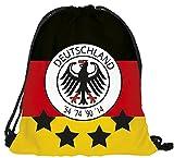 Alsino WM Länderrucksack Maße: 30 cm x 40 cm Turnbeutel Fanrucksack WM Fanartikel Sportbeutel Gymsack Jutetasche, Variante wählen:RU-DE Deutschland