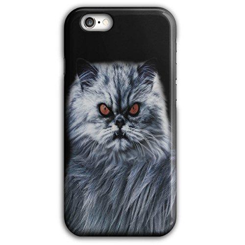 Wellcoda Wütend Katze Böse Auge Tier Hülle für iPhone 6 Plus / 6S Plus Kätzchen Rutschfeste Hülle - Slim Fit, komfortabler Griff, Schutzhülle