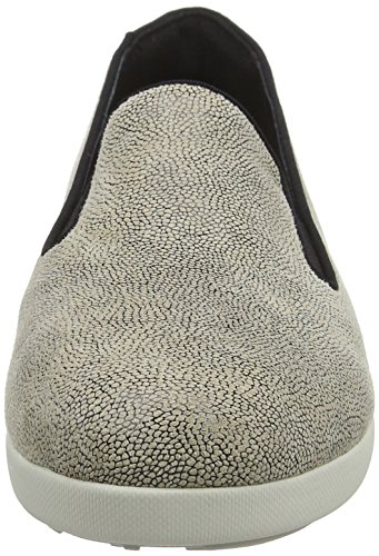 FitFlop Damen F-Pop Skate Slipper, Grau Multicolour (Stone Pebbleprint)