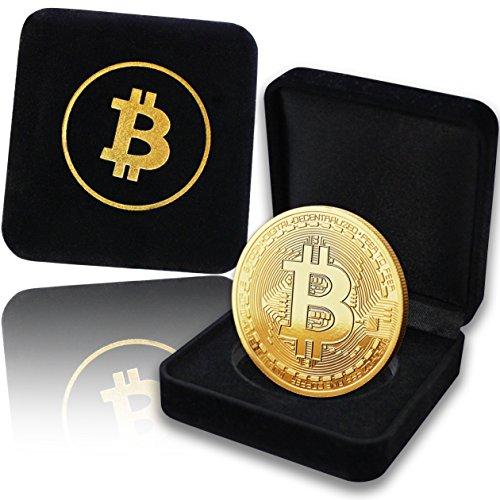 Physische Bitcoin Medaille mit 24-Karat Echt-Gold überzogen. In Einer edlen Schatulle für EIN wahres Sammlerstück + GRATIS E-Book: - Cryptocurrency - Das Zahlungsmittel der Zukunft -