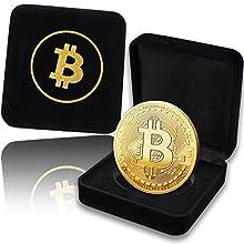 Moneta Fisica Bitcoin rivestita in Oro Puro 24 Carati. Un pregiato Cofanetto per un vero Pezzo da Collezione