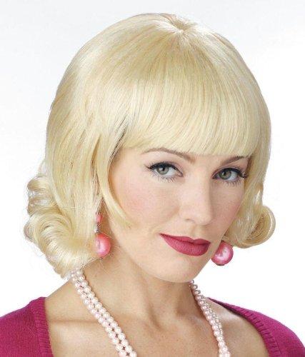 Perücke Flip Blonde (Damen Halloween Kostüme Cosplay Wig Perücke gewellt Haar Perücke Blonde Flip für Maskerade Make-up)