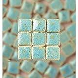 MosaicMicros 5 x 5 x 3 mm, 10 g, confezione da 100 pezzi, in ceramica smaltata, Reseda Mini mattonelle a mosaico, colore: verde