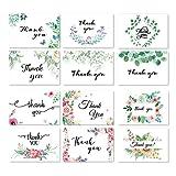 12-Pack-Dankeskarten, SunBeter-Dankeschön-Notizen mit Umschlag Floral-Designs für Hochzeit, Baby Shower, Business, Abschlussfeier, Jubiläum - 4 x 6 Zoll