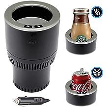 Soporte para Bebidas, ZenCT Soporte Vaso Botella Lata Cafe En Coche Vehiculo, 12V DC Mini Nevera Refrigerador del Coche Portátil Termoeléctrica para Latas de Refresco para Viaje