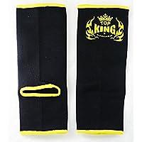 Top King Tobillera negro/amarillo para Muay Thai, MMA, boxeo, Kickboxing