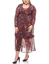 Laura Scott Kleid Chiffon Maxikleid Boho Kurzgröße Große Größe Sommerkleid  Bunt 841c33f0c2