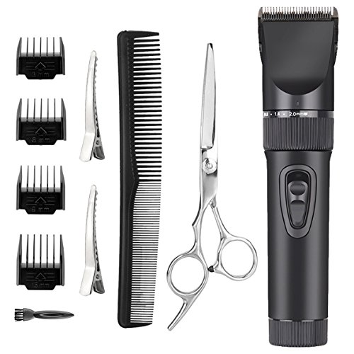 0ab760d0451 ... Babies Quiet Electric Barber Clippers Set Skin-Friendly Blades  Precision Trimmer Cord Cordless Rechargeable Home Hair Cutting Kit For  Adults Kids Babies ...