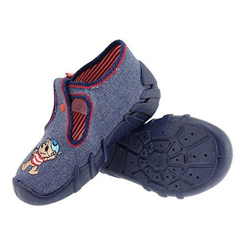 Gallux - Jungen Hausschuhe Schuhe mit tollen Motiven Dunkelgrau