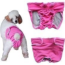 YIZYIF Braguita Fisiológica Mascota Perra Gata Reutilizable Lavable Pañal Suave Ajustable Permeable al Aire