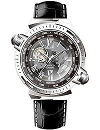 Time100 Montre Homme Automatique Mécanique Horaire du monde Fashion Mode Exquise Distinguée bracelet en cuir véritable