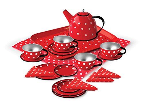 MAGNI-Servicio té Lunares estaño emballé Maleta