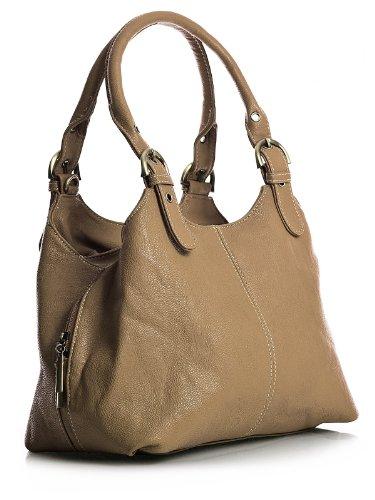 Big Handbag Shop, Borsa a mano donna Marrone (Der Camel Braun)