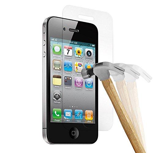wortek Premium 9H Hartglas / Panzerglas für Apple iPhone 4 / 4S Bildschirmschutzglas / Tempered Glass / Panzer Glas Bildschirm Schutz Folie / Schutzglas / Echt Glas / Verb&glas / Glasfolie Sicherheitsglas für iPhone 4 / 4S