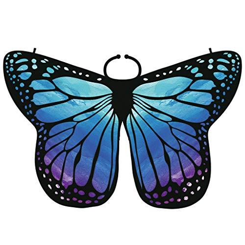 (JMETRIC Mode Eltern-Kind Kostüm Zubehör Komisch Spaß Schal Mehrfarben Schmetterlingsflügel-Schal 135 * 65 175 * 125(Blau,175 * 125CM))