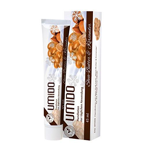 1x UMIDO Handlotion 45 ml Shea-Butter & Koriander | Handcreme | Pflegecreme | Lotion | Hautpflege (1-HPF)