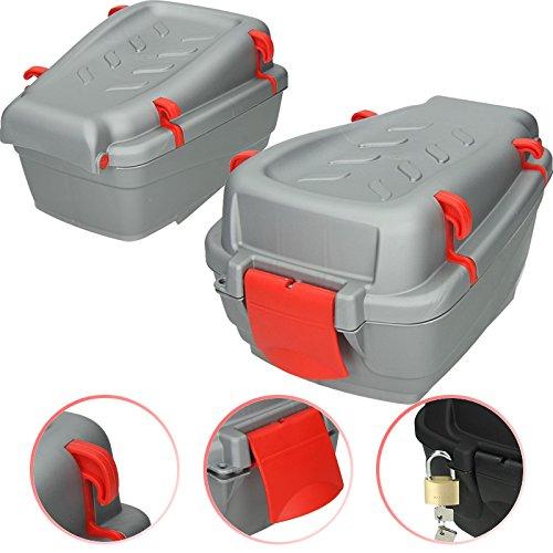 Fahrradkoffer 7,5 L grau für Kinderfahrrad Fahrradbox Topcase Gepäckträger Box Fahrrad Top Case