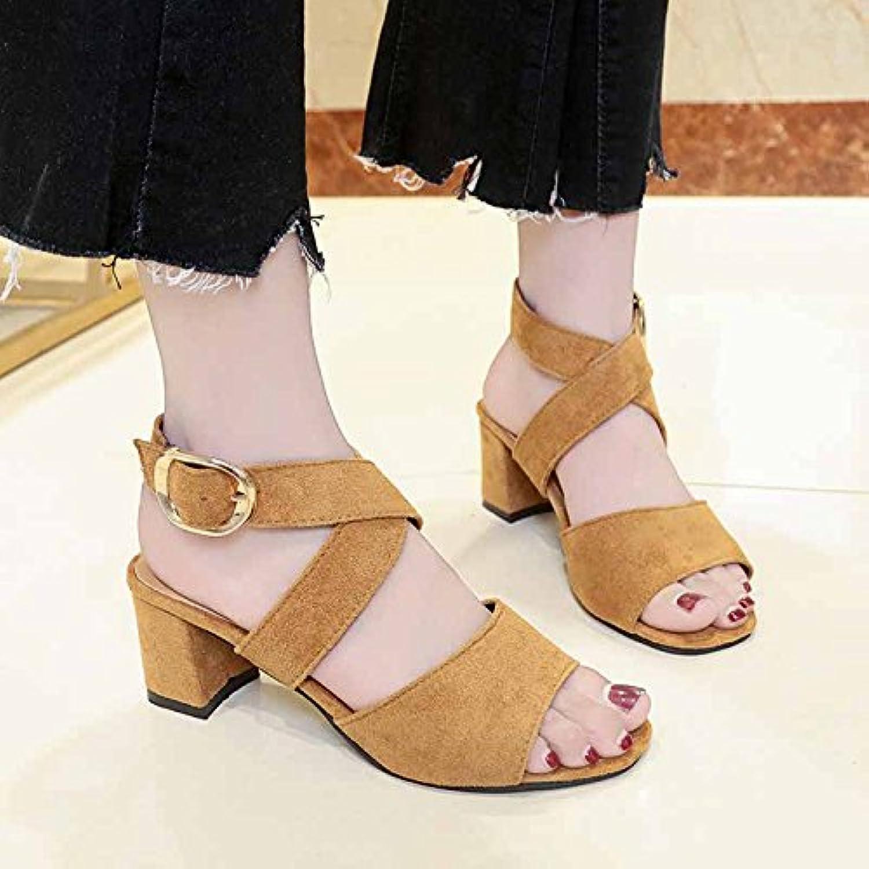 aeb98a199ed65a gaolim le mot summer sandales pour femmes avec avec avec des talons hauts  et polyvalent noire avec des chaussures de femmes b07cc4rrt4 parent rosée  tep | De ...