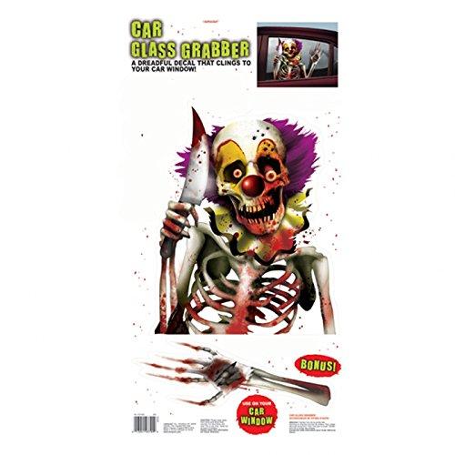 PARTY DISCOUNT NEU Fenster-Deko Creepy Carnevil 61x30,4 - Carnevil Kostüm