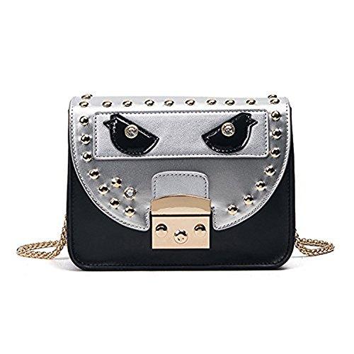 Meoaeo Nuova Edizione Di Moda Coreana Bag Lock Borsa A Tracolla Sacchetta Nero black