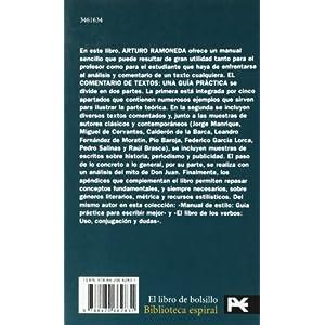 El comentario de textos: Una guía práctica (El Libro De Bolsillo - Biblioteca Espiral)