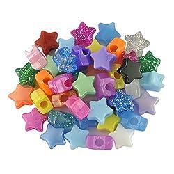 Plastic Bead Star Mix Qty 100