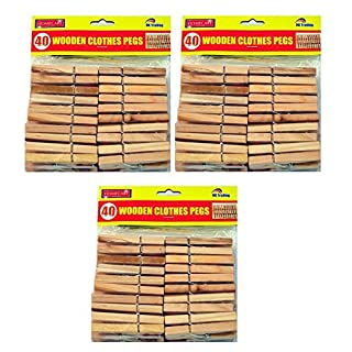 120 x STRONG WOODEN CLOTHES PEGS - 7cm - FREE DELIVERY