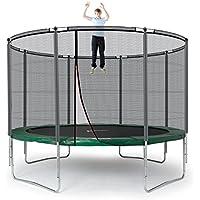 Ampel 24 Outdoor Trampolin 366 cm Grün | Komplett mit Außenliegendem Netz | Gartentrampolin mit 8 Gepolsterten Stangen | Sicherheitsnetz mit Stabilitätsring | Belastbarkeit 160 kg