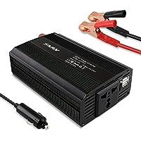 SNAN 500W Inverter per Auto/Barca/Camper con Accendisigari in alluminio +