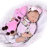 KEIUMI Sleeping 43,2cm Reborn Baby-Puppe Mädchen Schauen Weiches Echtes Silikon Babys Mädchen Neugeborene Spielzeug Kinder Wachstum Partner