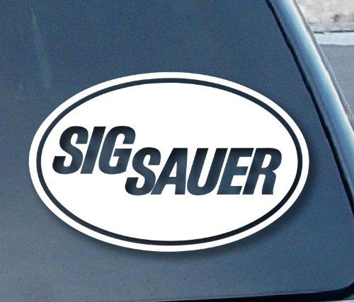 Aufkleber Sig Sauer Firearms Car Window Vinyl Decal Sticker 127mm Wide (Color: White) (Window Decal)