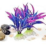Legendog Artificial Aquatic Plants, 10 Pcs Aquarium Plants Plastic Fish Tank Decorations, Artificial Green Plant Grass… 10