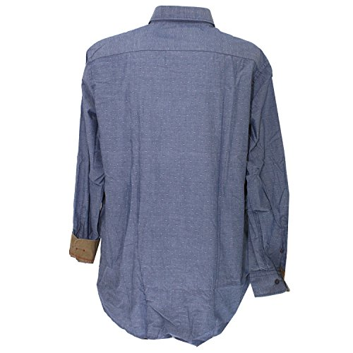 Casa Moda, Herren langarm Hemd, ,leichtes Baumwollgewebe,navyblau hellgrau [17518] navyblau hellgrau
