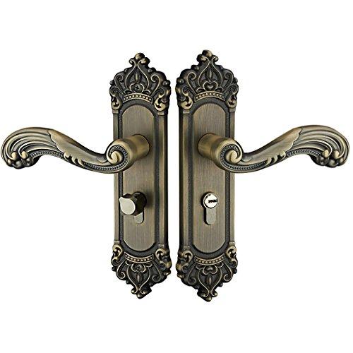 Homyl Innentürschloss Latch Türbeschläge Türschloss Schloss mit 3 Schlüsseln Set - Europäische Bronze