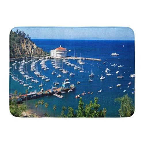 LIS HOME Badematte Santa Avalon Hafen Catalina Island Pazifik Boote Badezimmer Dekor Teppich - Avalon, Santa Catalina Island