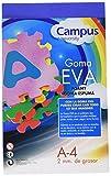 Campus University EVA-A4-BL - Goma, 2 mm, 10 unidades, A4, azul