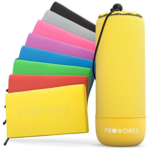 f3a76c25a3 Proworks Microfibre Towel, Quick Dry Gym Towel with Travel Bag, Ultra-Light  Beach