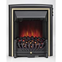 Be Modern Daytona Electric Inset Fire Black & Brass