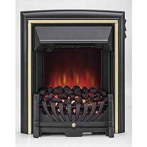 Be Modern Daytona Electric Inset Fire Black & Brass