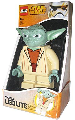 LEGO Star Wars - Linterna Ledlite con diseño de Yoda, Color Verde (812749L)