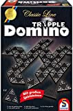 Schmidt Spiele SSP49287 - Classic Line -  Tripple-Dominio mit großen Spielsteinen Neu, Brettspiel