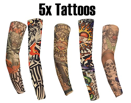 5x Tattoo Ärmel Nylon Tätowierung Strümpfe Überzieher Strümpfe -